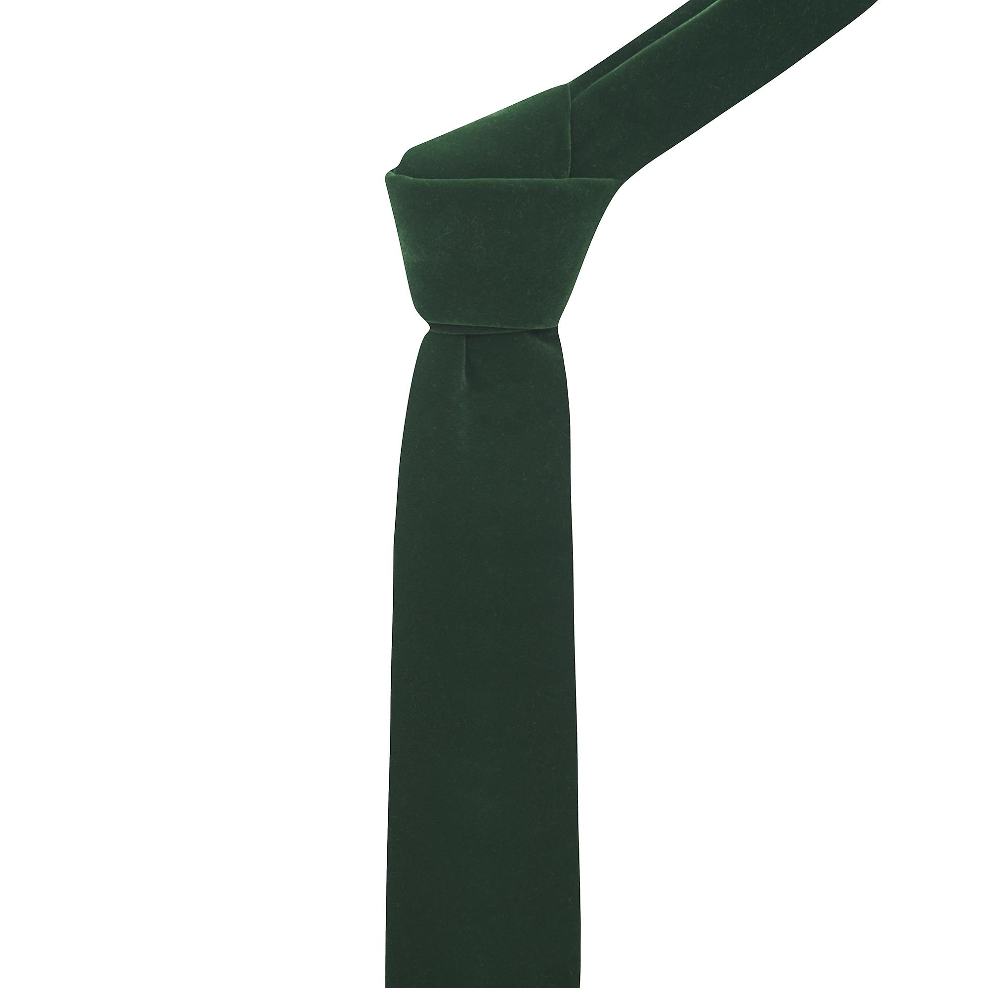 Luxury Dark Green Velvet Tie
