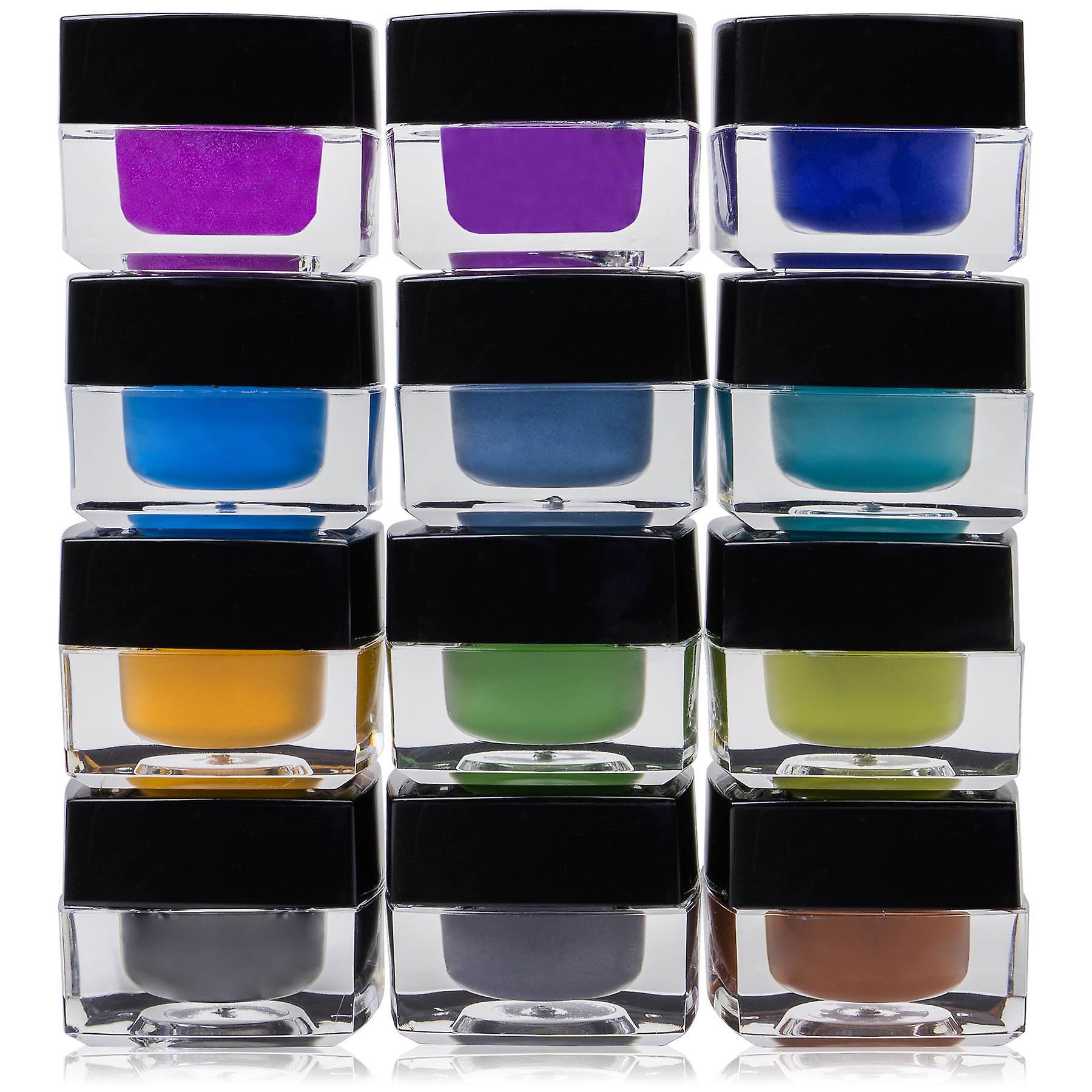 SHANY Smudge Proof Gel Eyeliner Set - Set of 12 Colors - Masquerade