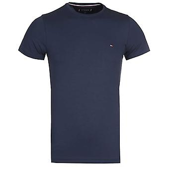 Tommy Hilfiger Navy Slim Fit Stretch Cotton T-Shirt