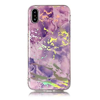 Laser Marble Shell for iPhone X/XS