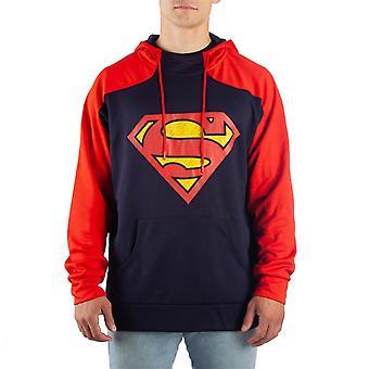 Superman Symbol Bleu et Rouge Athletic Hommes-apos;s Sweatshirt à capuchon