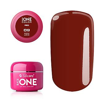 Base one-Color-Red Rich Love 5g UV gel