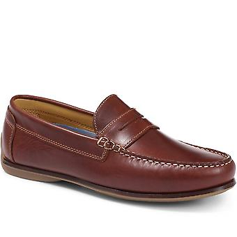 Moccasin leather driving shoes