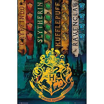 Harry Potter House Flags Poster