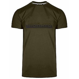 Antony Morato Raised Logo Green Short Sleeve T-Shirt