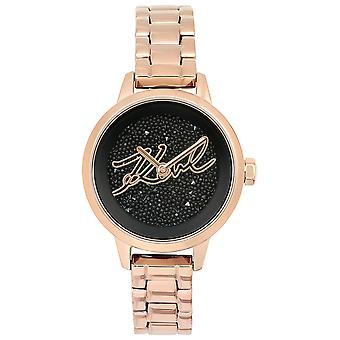 Karl lagerfeld jewelry ikonik Quartz Analog Woman Watch with 5513070 Stainless Steel Bracelet