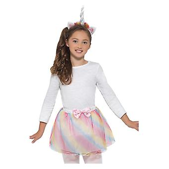 Girls Unicorn Kit: Tutu & Headband Fancy Dress Accessory