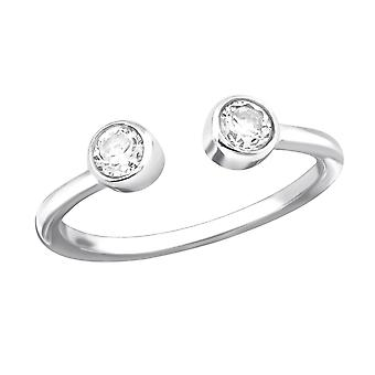 Open - 925 Sterling Silver Jewelled Rings - W30973x