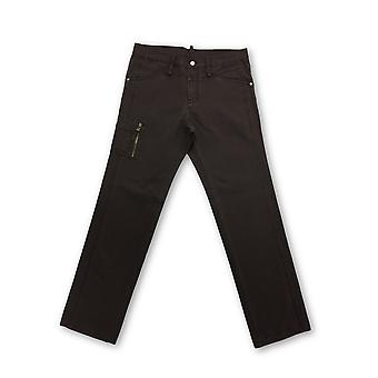 Strellson cotton jeans in brown with zip leg pocket