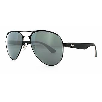 Ray-Ban RB3523 006/6G Matte Black/Grey Silver Mirror Sunglasses