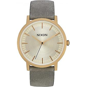 Nixon the porter watch for Japanese Quartz Analog Man with Cowskin Bracelet A10582982
