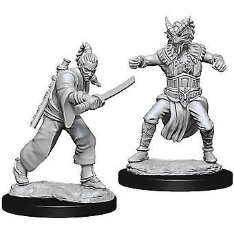 D&D Nolzur's Marvelous Unpainted Miniatures Male Human Monk (Pack of 6)
