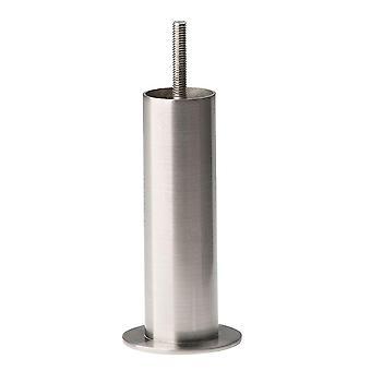 Ronde RVS meubelpoot 17 cm (M8)