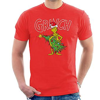 The Grinch Christmas Tree Thief Men's T-Shirt