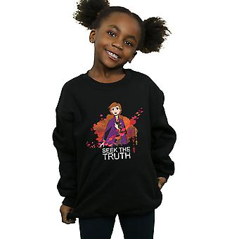 Disney Girls Frozen 2 Anna Seek The Truth Wind Sweatshirt