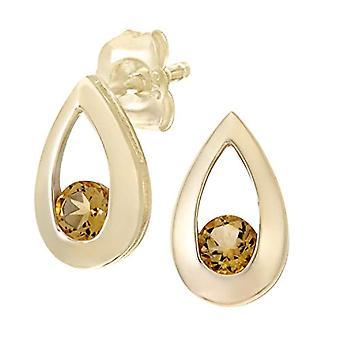 Citerna Women's Lobo Earrings - Yellow Gold - Citrina - Orange/Yellow