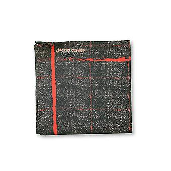 Jacob Cohen Pocket Square in grey/brown marl with red line design
