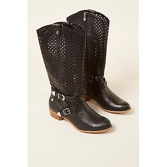 Women's Black Mustang Boots 236978