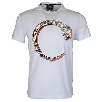 Cavalli Class Jersey Stretch Panther White T-shirt