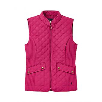Joules Minx mujer acolchado Gilet - Berry