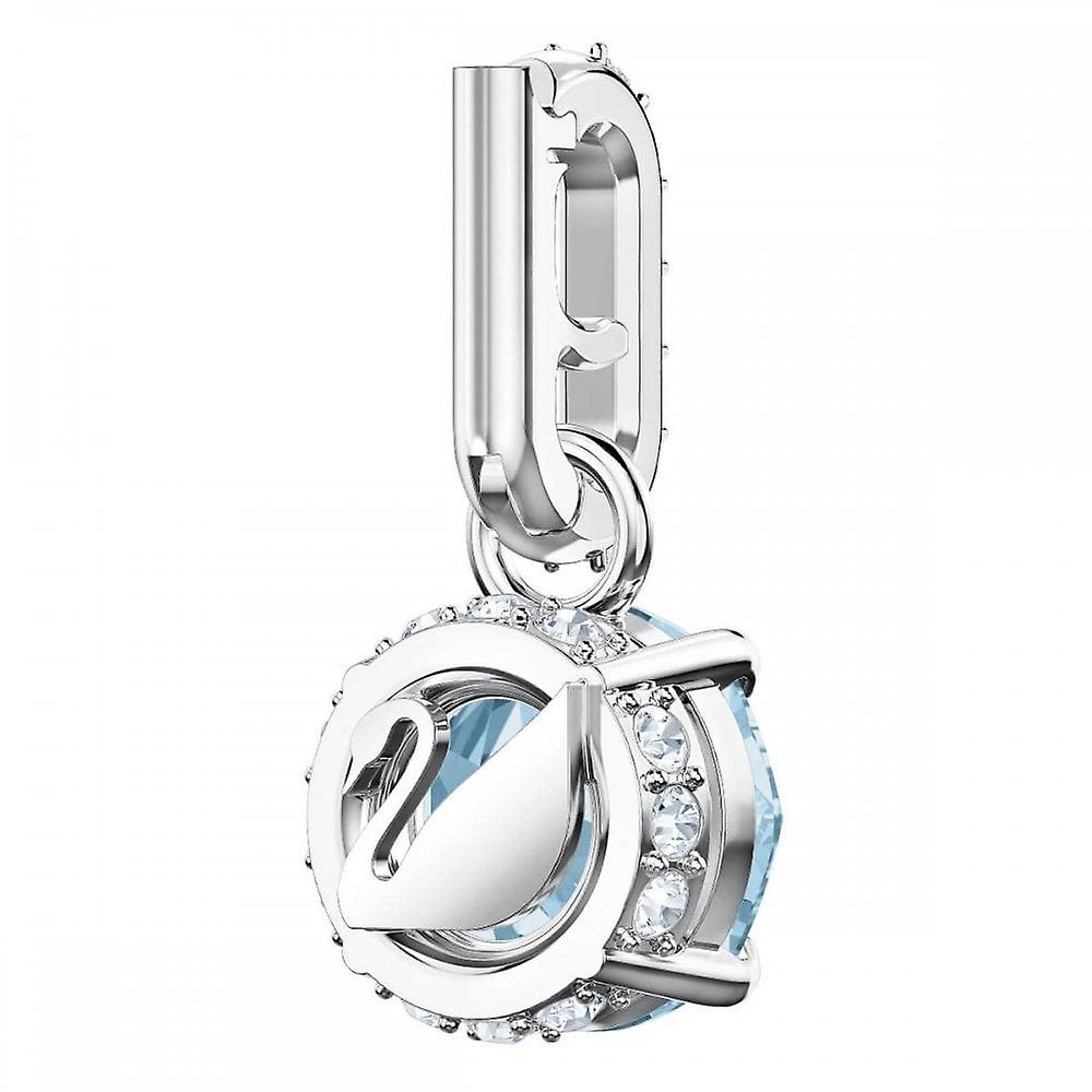 Swarovski Remix Rhodium Plated With Aquamarine Crystal March Birthstone Charm 5435642