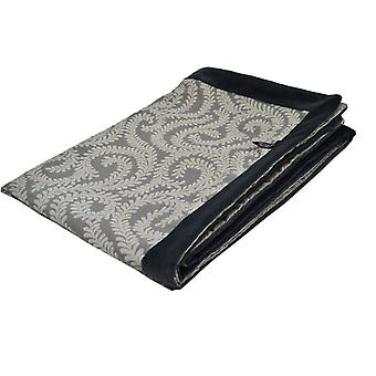 Mcalister textiles little leaf charcoal grey throw