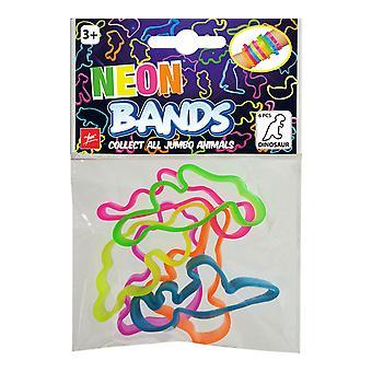 Neon Bands Bracelet Dinosaur 6 pieces