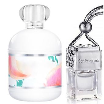 Cacharel Anais For Her Inspired Fragrance 8ml Chrome Lid Bottle Hanging Car Vehicle Auto Air Freshener