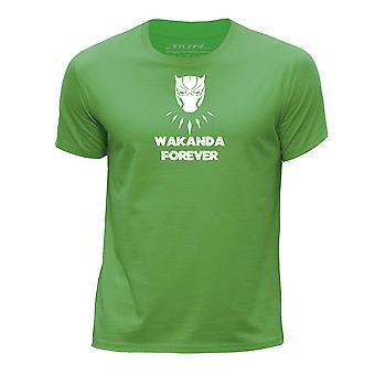 STUFF4 Boy's Round Neck T-Shirt/Black Panther Inspired Wakanda/Green