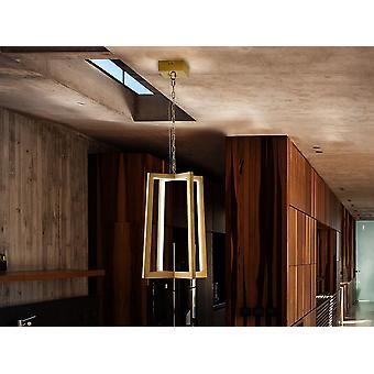 Schuller Kuma - Lampe LED en acier inoxydable poli avec finition de placage d'or. Rayures LED cachées par des diffuseurs en polycarbonate blanc. Bande LED 23W, 3 000 K, 456 lm - 753114