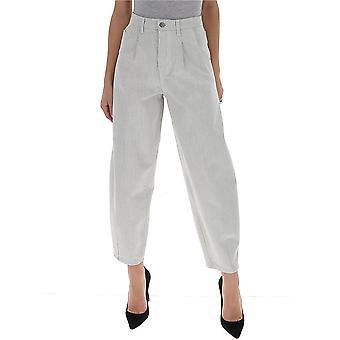 Amen Ams20605089 Donne's Pantaloni di cotone grigio
