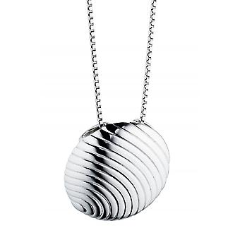 Fiorelli Silver Grooved Disc Pendant