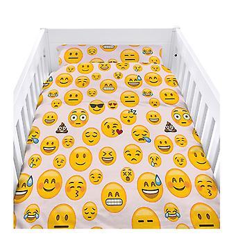 Pronto Letto Stabile Emoji Ragazza Design Nursery Cot Duvet Cover Set