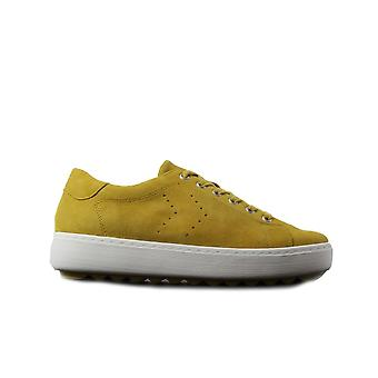 Remonte D1004-68 Yellow Suede Leather Womens Lace Up Casual Trainers