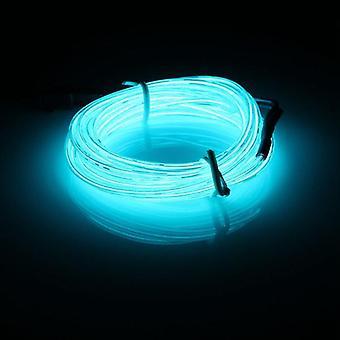 3m el led flexible tubo suave cable de neón brillante coche tira de la tira de la luz xmas decoración dc 12v