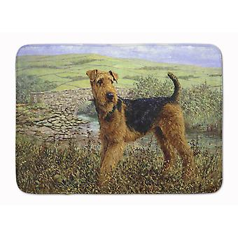 Airedale Terrier The Kings Country Machine Washable Memory Foam Mat