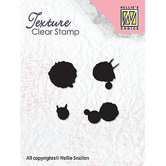 Nellie's Choice Clearstamp - Texture Ink spatters