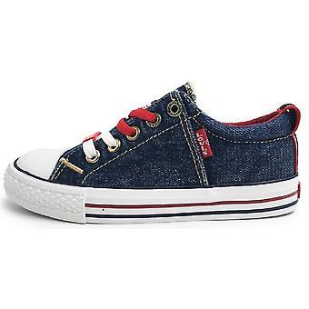 Levis Originals Low Canvas Shoes Denim Blue
