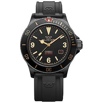Combat Analog Men's Automatic Watch with Silicone Bracelet GL0269