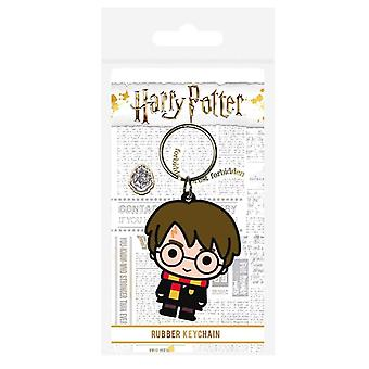 Harry Potter Chibi Character Rubber Keyring