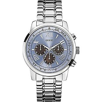 Guess GVSS5 W0379G6-men's quartz watch with analog display, and silver stainless steel bracelet