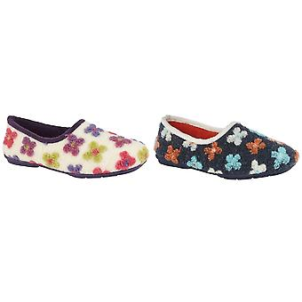 Sleepers Womens/Ladies Gracie Floral Memory Foam Slippers