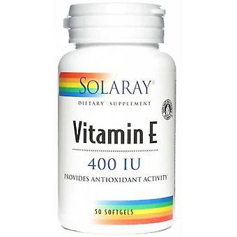 Solaray Vitamin E 100% D Alpha Tocopherols 50 Pearls