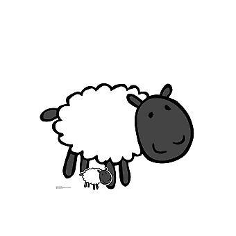 Cute Farmyard Sheep Cardboard Cutout / Standee / Standup