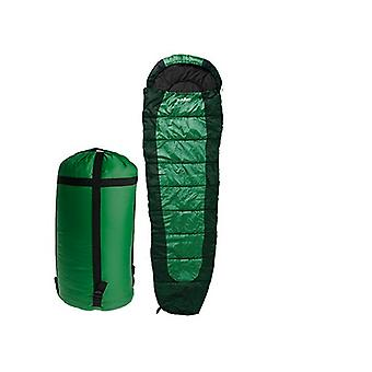 Summit Double Layer 350gsm Mummy Sleeping Bag- Dark Green