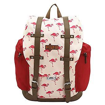 Friedrich-23 Rucksack - F23 - Flamingo - Polyester - beige/koralle Casual Backpack - 42 cm - 22 liters - Beige (Beige/Koralle)