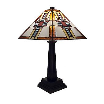 Tiffany-stil lager af Tiffany Cross Table lampe