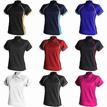 Finden & Hales Womens Coolplus Piped Sports Polo Shirt