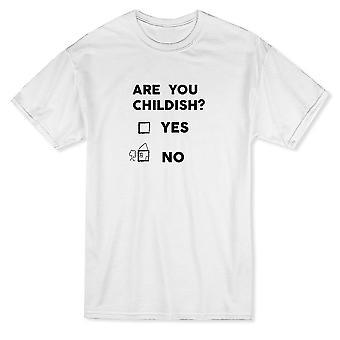 Vous êtes enfantin? N'Oui aucun drôle graphique T-shirt homme