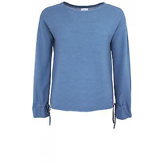 Taifun Blue Ribbed Knit Sweater